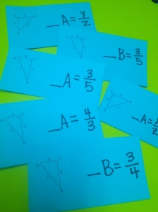 Trig Ratio Cards